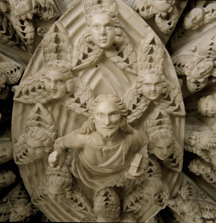 Particolare dell'Arca di Sant'Agostino: Cristo glorioso
