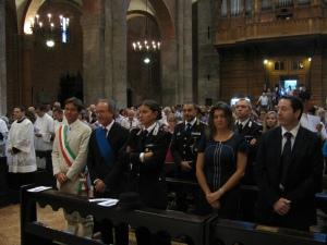 Le Autorità civili, politiche e militari presenti in Basilica