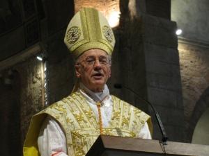 Il cardinale Claudio Hummes, prefetto della congregazione per il clero, durante l'omelia in Basilica