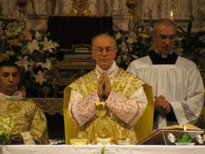 Il cardinale Hummes durante la celebrazione eucaristica