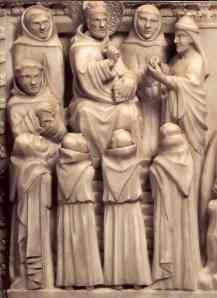 Agostino ammaestra e battezza i giovani