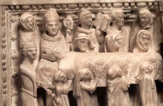Arrivo delle reliquie di Agostino a Pavia