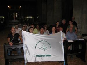 I giovani che hanno compiuto il cammino a piedi da Genova a Pavia