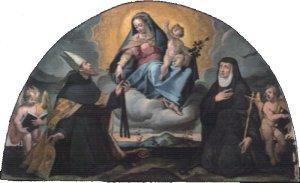 Madonna della cintura (olio su tela di Orazio Sammarchi)