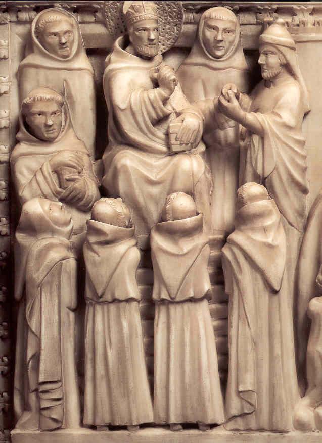 Sant'Agostino educa i giovani - particolare dell'Arca
