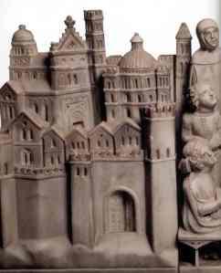 Arca di Sant'Agostino, particolare, Agostino insegna a Milano