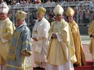 Vescovi cattolici di Terra Santa durante la recente visita del Santo Padre