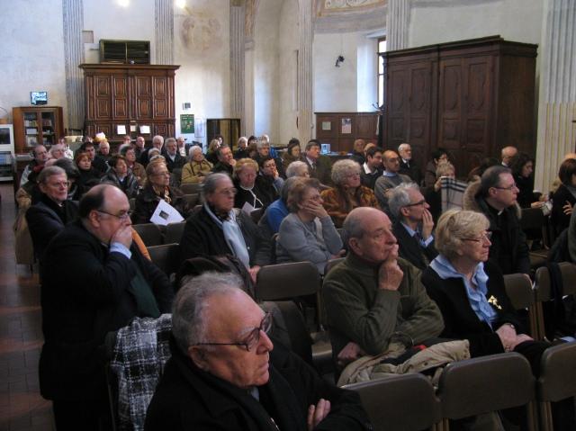 Pubblico nella Sacrestia della Basilica