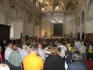 Festa di Santa Rita 2011, benedizione delle rose nella Sacrestia