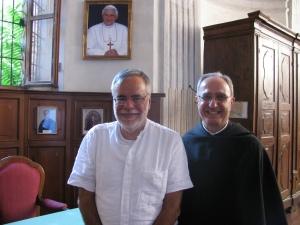 Andrea Riccardi, fondatore della Comunità di Sant'Egidio, e padre Giustino Casciano