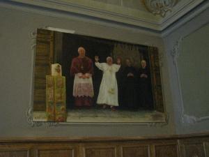 Dono del dipinto di Benedetto XVI da parte del maestro Rosario Ticli