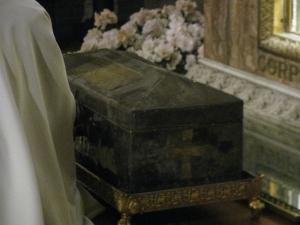 Cassetta altomedievale contenente la teca con le reliquie di Sant'Agostino