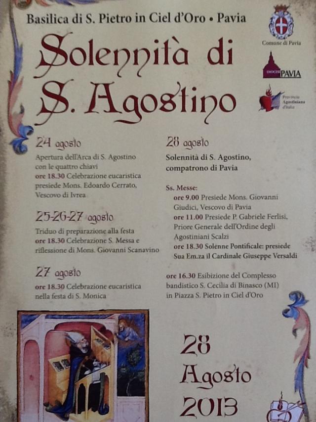 Festa di Sant'Agostino 2013, la Locandina