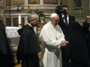 Papa Francesco e Padre Robert F. Prevost, Priore Generale dell'Ordine di Sant'Agostino