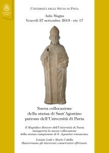 Statua di Sant'Agostino nell'Aula Magna dell'Università di Pavia