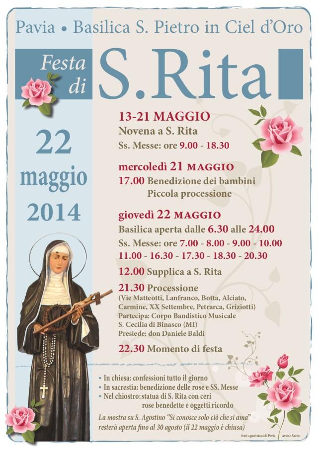 Il manifesto della Novena e della Festa di Santa Rita 2014