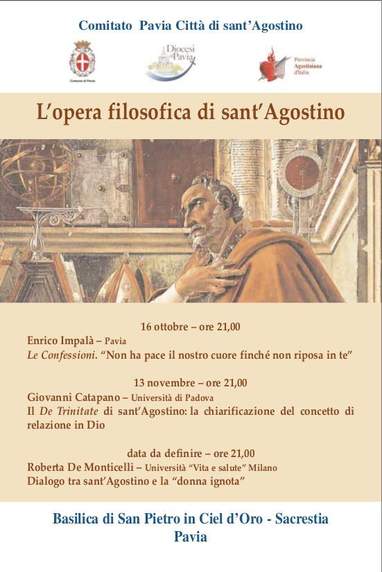 L'opera filosofica di Sant'Agostino - ciclo di conferenze