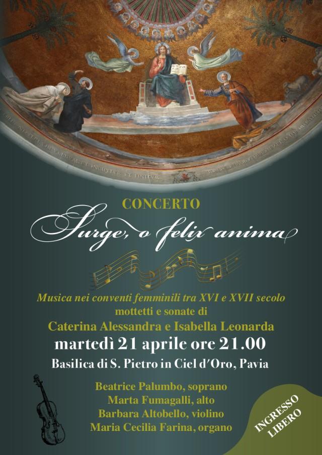 Locandina del Concerto del 21 aprile
