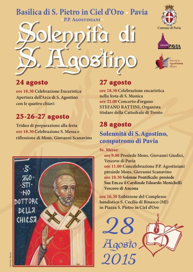 Locandina eprogramma della Festa di S.Agostino 2015