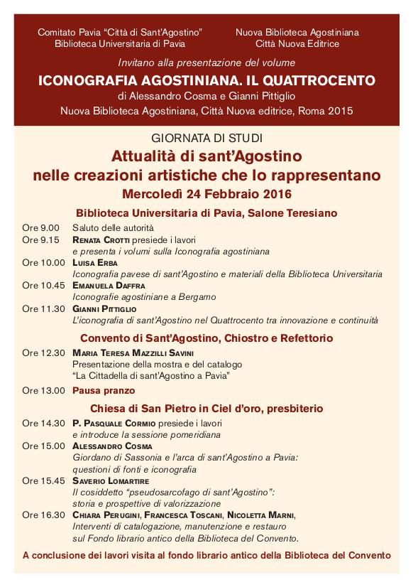 Programma Convegno Iconografia agostiniana