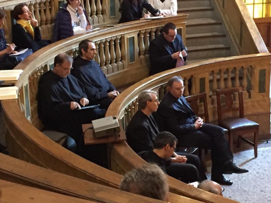 Lectio Augustini 2016:  il Priore Provinciale Padre de Michieli e mons. Sanguineti vescovo di Pavia