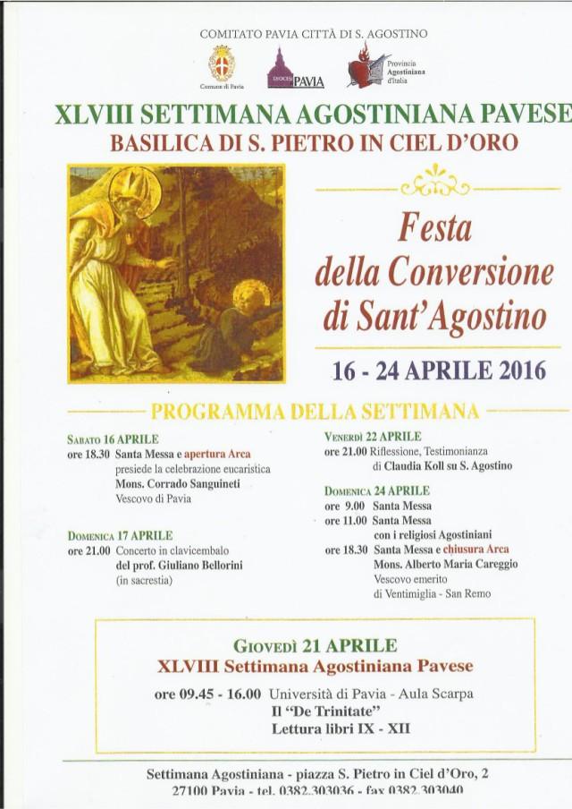 XLVIII Settimana Agostiniana Pavese