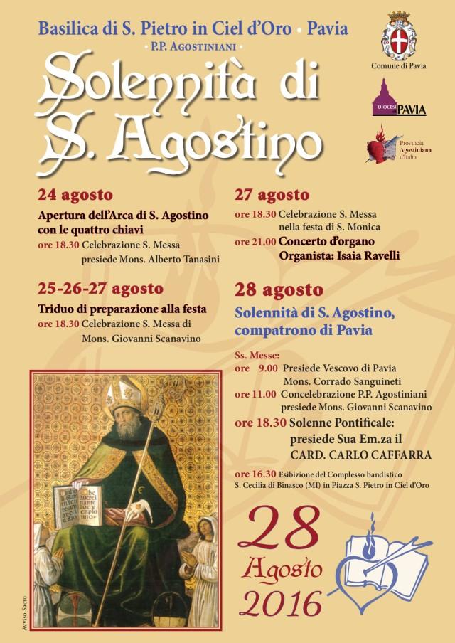 Festa di Sant'Agostino 2016: il programma
