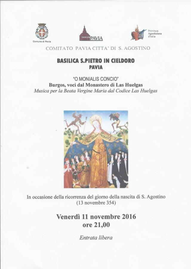 Concerto in onore del genetliaco di Sant'Agostino