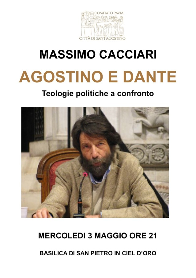 Massimo Cacciari in Basilica di San Pietro in Ciel d'Oro il 3 maggio alle 21