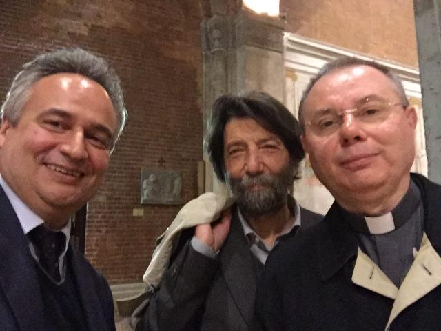 Antonello Sacchi, Massimo Cacciari, don Gianluigi Corti
