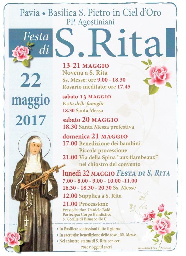 Programma della Festa di Santa Rita 2017