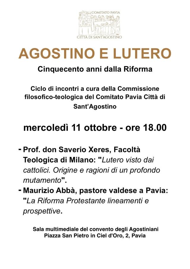 Agostino e Lutero, Incontro 11 ottobre