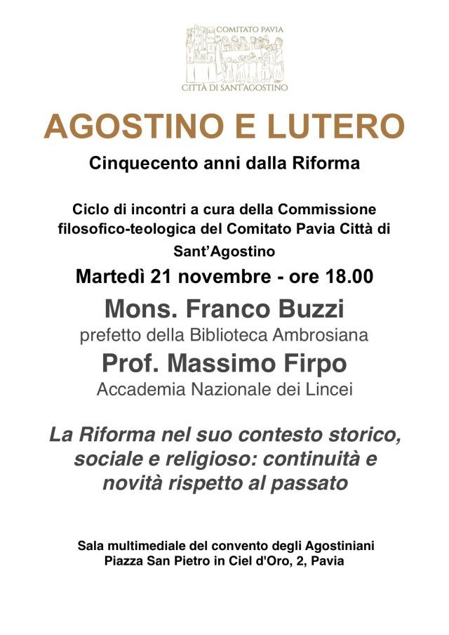 Agostino e Lutero - Incontro del 21 novembre