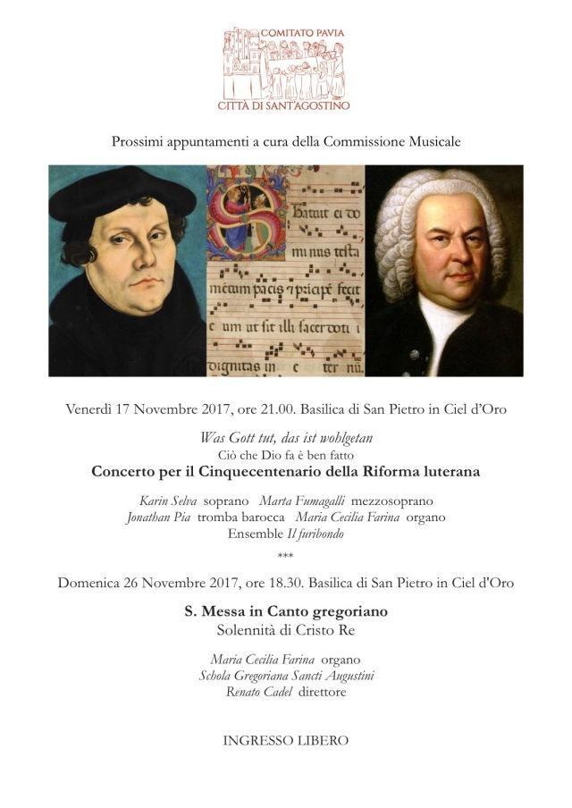 Programma a cura della Commissione musicale del Comitato Pavia Città di Sant'Agostino