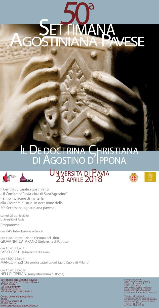 Locandina Lectio Augustini 2018